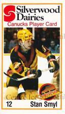 1981-82 Vancouver Canucks SilverWood Dairies #5 Stan Smyl