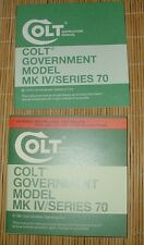 Colt Government Model Series 70 manual 1978 or 1981 Your Choice