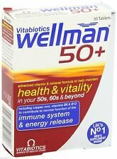 Vitabiotics WellMan 50+ Advanced Formula (120 Tablets) Male Health, Healthy Body