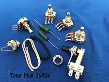 Guitar DIY Upgrade Kit - Pots - PIO Tone Caps - 3-Way Switch - Fits Gibson SG