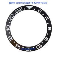 Carving 38mm Black Ceramic Bezel Insert Ring For Parnis 40mm GMT Watch