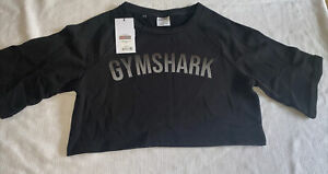 NWT Gymshark oversized crop top -black - small