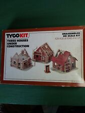 TYCO 7766 Three Houses Under Construction HO Scale Train Track Building Kit