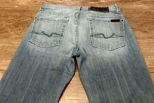 7 for all mankind seven women's denim jeans flip flop Sz 24 W-28 L-30 R-7.5 EUC