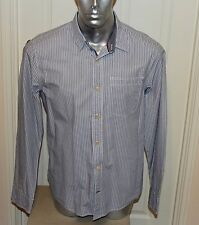 FAT FACE LONG SLEEVE LIGHTWEIGHT COTTON SHIRT , MANS L , GREY / BLUE STRIPED