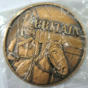 PAN AM AIRLINES BRITAIN QUEEN'S GUARD & HORSE 38mm BRONZE MEDAL COIN - SEALED