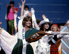 Olivia Tracey Attends The 1985 Miss Universe Pageant Circa 1985 In OLD PHOTO