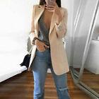 Mid Long Hot Women Casual Trench Coat Fashion Lapel Slim Cardigan Outdoor Jacket
