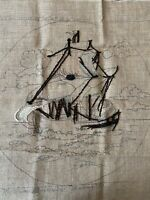 Primitive Rug Hooking Pattern 'Return of the Tall Ship' by Jane McGown Flynn