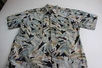 Cooke Street Honolulu Floral Pocket Camp Shirt Large L