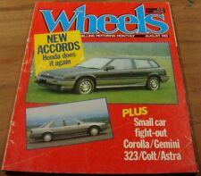 1985.Wheels.Honda Accord.COROLLA.Gemini.Mazda 323.Colt.Astra.VOLVO 740GLE