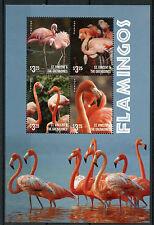 St Vincent & The Grenadines 2015 MNH Flamingos 4v M/S II Birds Flamingo