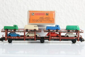 N ARNOLD 4990 Autotransport waggon GÜTERWAGEN boxcar J55