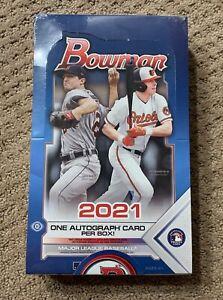 2021 Bowman Baseball HOBBY Box FACTORY SEALED 24 Packs 1 Auto