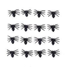 50pcs Halloween Funny Small Fake Spider Black Plastic Joke Prank Toys Props New