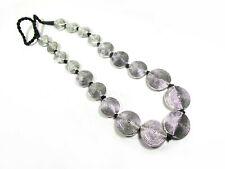 N6113 Silver tone Spiral Long Tribal Ethnic Gypsy BOHO Fashion Chunky Necklace