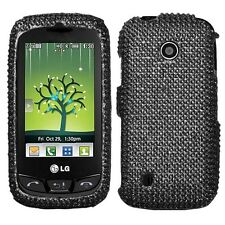 Black Bling Hard Case Cover LG Cosmos Touch VN270
