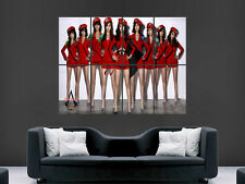 Girls génération sud-coréenne pop band music art mural grande image giant poster