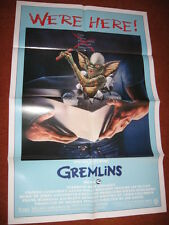 GREMLINS original MOVIE POSTER >1985 ufo sci fi >The1980's Rock