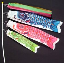 Koinobori Koi Nobori Carp Windsocks Streamers Colorful Fish Flag Decoration Med