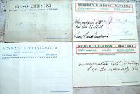 1928 LOTTO 4 CARTONCINI PUBBLICITARI DI RAVENNA