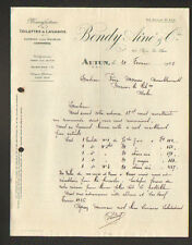 """AUTUN (71) USINE de TOILETTES & LAVABOS / SANITAIRE en Marbre """"BONDY & Cie"""" 1926"""
