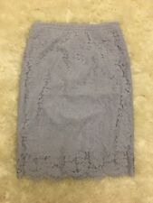 New J Crew Collection Lace Pencil Skirt Lilac Sz 6 E2349