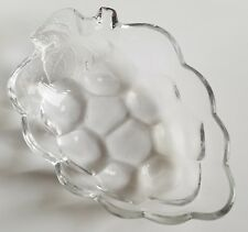 "Grape Cluster Clear Glass Candy Nut Dish 6"" x 4"""