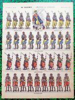 XIX ème - Dahomey - Amazones & Guerriers Superbe Planche 40x29 N° 142 A Voir !!