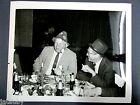 Vintage BOEING PHOTO PARTY MEN CORN COB PIPE HAT BEER EXECUTIVES
