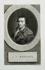 c1800 Brissot Jacques Französische Revolution Kupferstich-Porträt Claessens