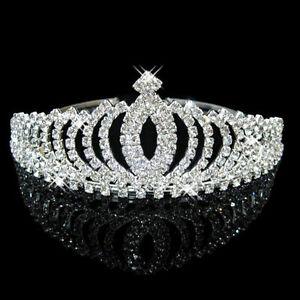 EE_ AM_ EG_ HOT SALE BRIDAL BRIDESMAID CRYSTAL CROWN TIARA GOOD HEADBAND WEDDING