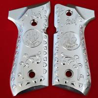 Beretta GRIPS Beretta 92/96 Grips Beretta Pistols 92F, 92FS, M9, 96 Nickel Plate