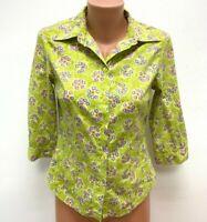 OILILY Gr.DE 38 - 40 Shirt Bluse Top Grün Mehrfarbig