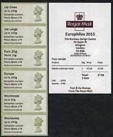 EUROPHILEX UNDATED MACHIN 1d PENNY BLACK ANNIV OPT MACHINS COLL SET/6  POST & GO