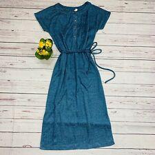 Vintage 40s 50s 60s 70s Dress Sweater Knit Long Length Stepford Handmade Tie