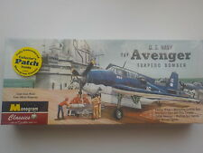 Maquette Monogram Vintage Avion TBF Avenger Torpedo 1/48 inclus 4 figurines