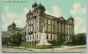 Wheeling West Virginia~City Hall~Vintage Postcard