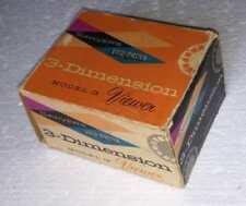 Visor diapositivas Sawyer's (Sawyers) 3-Dimension Video-Master; Con caja y pelis