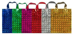 Metallic Holographic Gift Bags Party Weddings Birthdays All Sizes, Colours