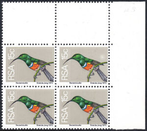 South Africa 1974-6 15c Greater Double Collared Sunbird, SCREEN FLAW, SG.358, UM