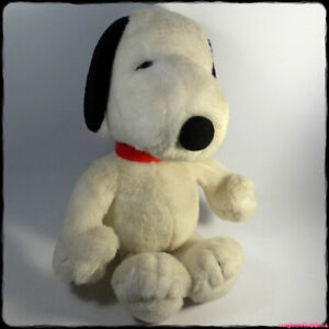 "SNOOPY Large Plush Vintage 14"" Peanuts Beagle Dog (1980s/1990s Applause) [gotd]"