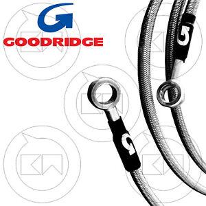 Goodridge Set Brake Pipes IN Braided Steel Diretti Yamaha YZF 600 R6 2014-2015