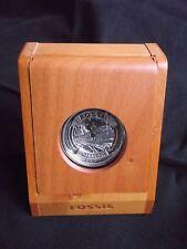 """Absolute Raität: Fossil Taschen-Uhr  """"Steamliner"""" 1998 Collectors Club Series"""
