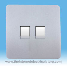 Trendi Artistico Moderno Lucido 2 Gruppo presa Ethernet PC ARGENTO ART -2 pcsi
