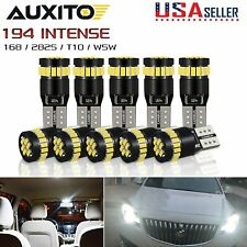 10X Canbus T10 194 168 W5W LED 3014 24SMD 6000K Car Side Wedge Light Bulb Lamp