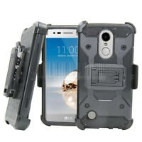 Hybrid Hard Armor Kickstand Case Shockproof Phone Cover For LG Aristo MS210 LV3