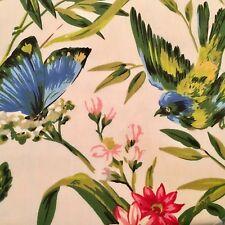 Raymond Waites QUEEN DUVET COVER SET Tropical Garden Floral Bird Green Red Blue