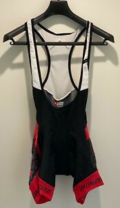 Specialized Bib Short M Women's SL Pro Performance Black/Red Padded UV Rated