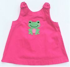 Gymboree Bright Tulip Girls Tank Top Shirt Pink Bow Green Frog Sz 5 5T NWT